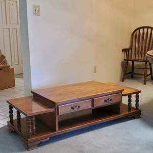 Lot # 46 -  Vintage Solid Maple Center Table