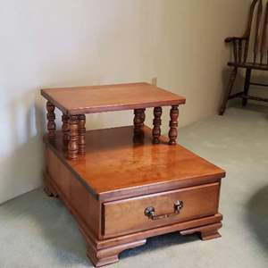 Lot # 47 -  Vintage Solid Maple Night Stand /End Table