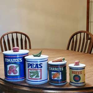 Lot # 51 -  County Cupboard Ceramic Food Canisters