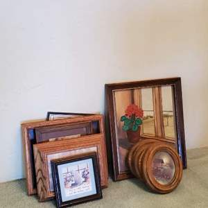 Lot # 52 -  Large Assortment of Picture frames and Framed Art
