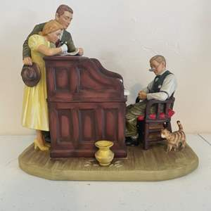 Lot # 53 - Vintage Norman Rockwell Figurine by Gorham