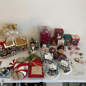 Lot # 60 - Christmas Ornaments and Decor