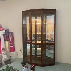 Lot # 62 - Large Lighted Curio Cabinet