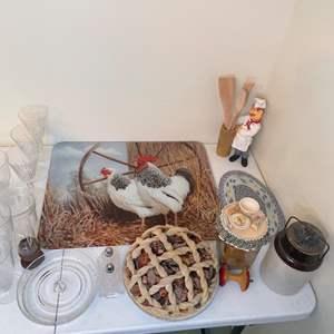 Lot # 69 - Antique Stoneware Crock and Kitchen Decor