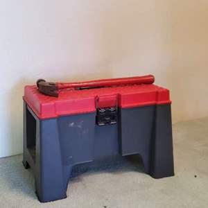 Lot # 70 - Tool Box/ Step Stool Full of Hand Tool's