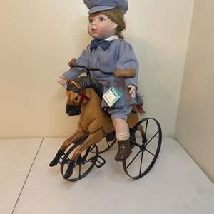 Lot # 78 - 1995 Victorian Playtime Doll/Wooden Horse