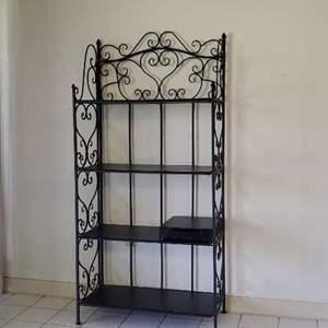 Lot # 79 - Decorative Metal Storage Rack