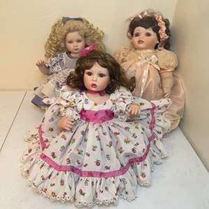 Lot # 82 - 1997/1999/2001 Marie Osmond Porcelain Dolls