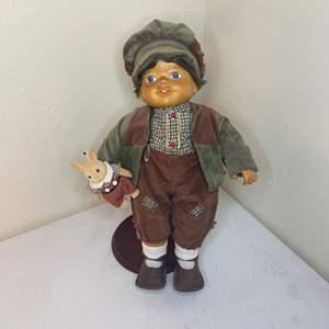 "Lot # 83 - Camelot Zasan Vintage Wood ""Peter"" Doll"