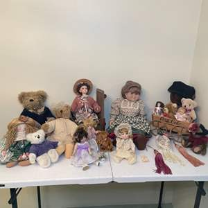 Lot # 86 - Collectible Dolls and Stuffed Bears