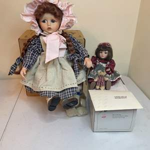 """Lot # 100 - True Blue Boyd's Collection """"Jamie"""" Doll/ 1999 Marie Osmond Porcelain Doll"""
