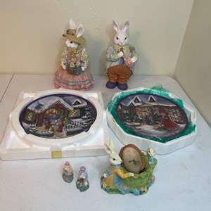 Lot # 102 - Easter Figurines and Decor