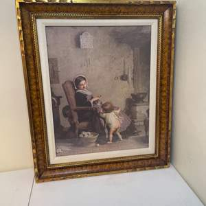 Lot # 105 - Hide-and-Seek - Alfred van Muyden Framed Print