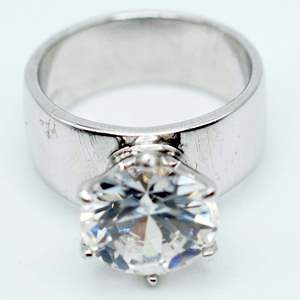 Lot # 237 - Large Moissanite Solitaire on 925 Silver Band