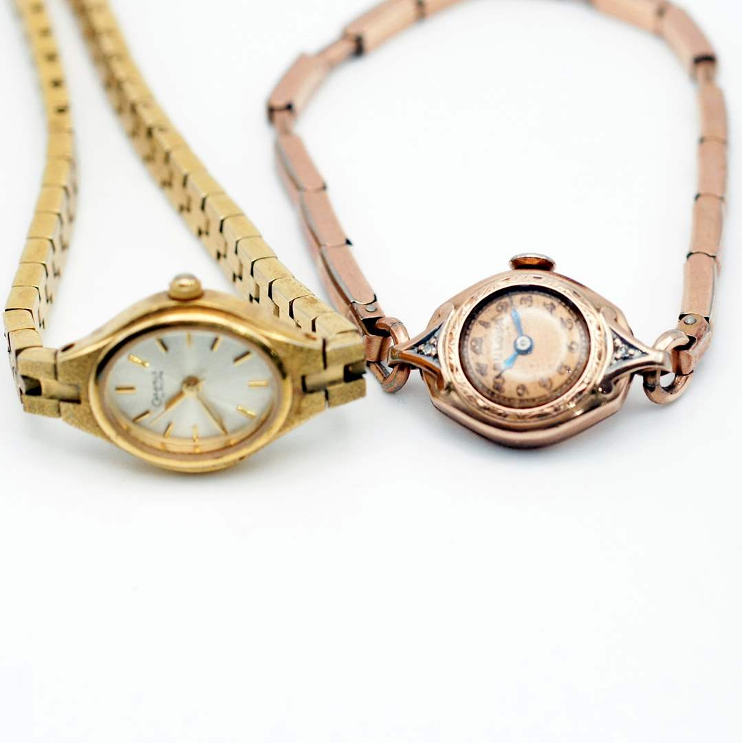 Lot # 242 - Vintage Bulova Gold Plated Watches (main image)