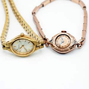 Lot # 242 - Vintage Bulova Gold Plated Watches