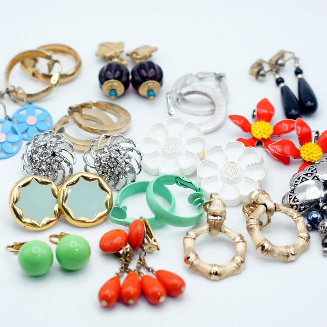 Lot # 244 - Amazing Vintage Earring Collection (main image)