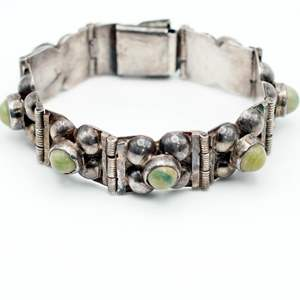 Lot # 250 - Sterling Silver and Stone Bracelet