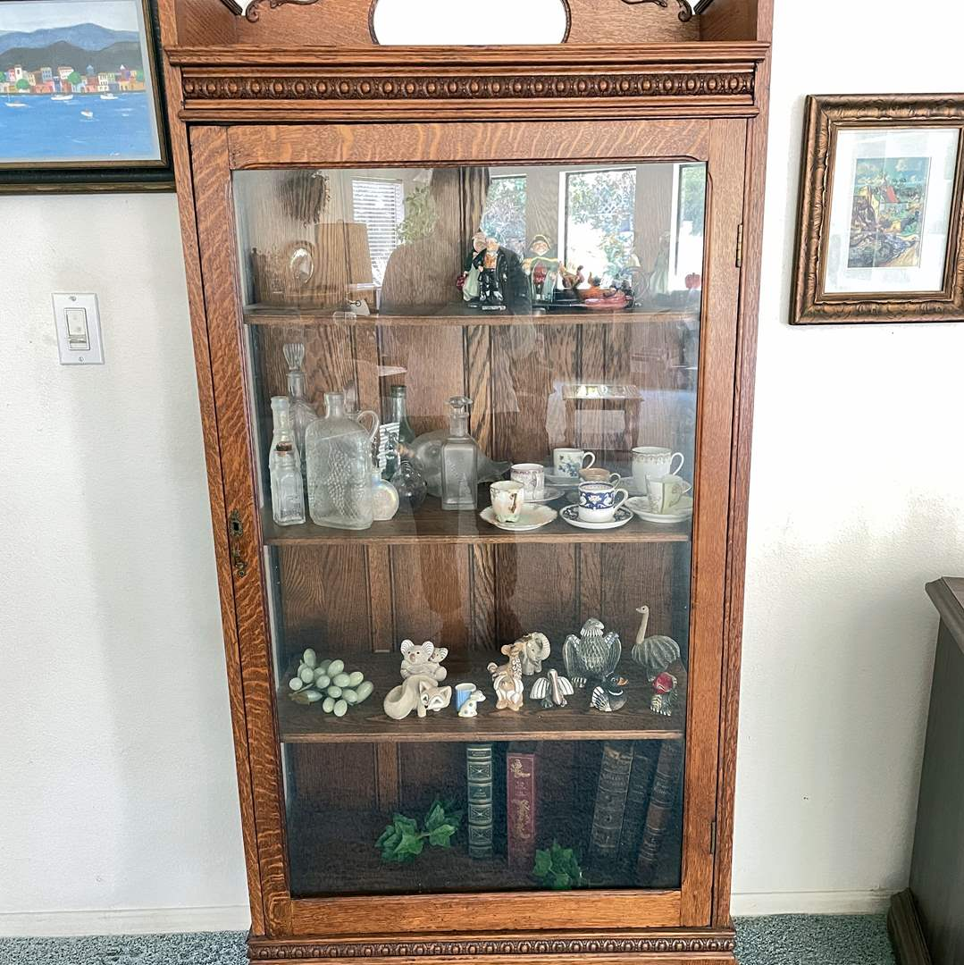 Lot # 3 - Wood and Glass Display Case (contents not included) (main image)
