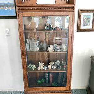 Lot # 3 - Wood and Glass Display Case (contents not included)