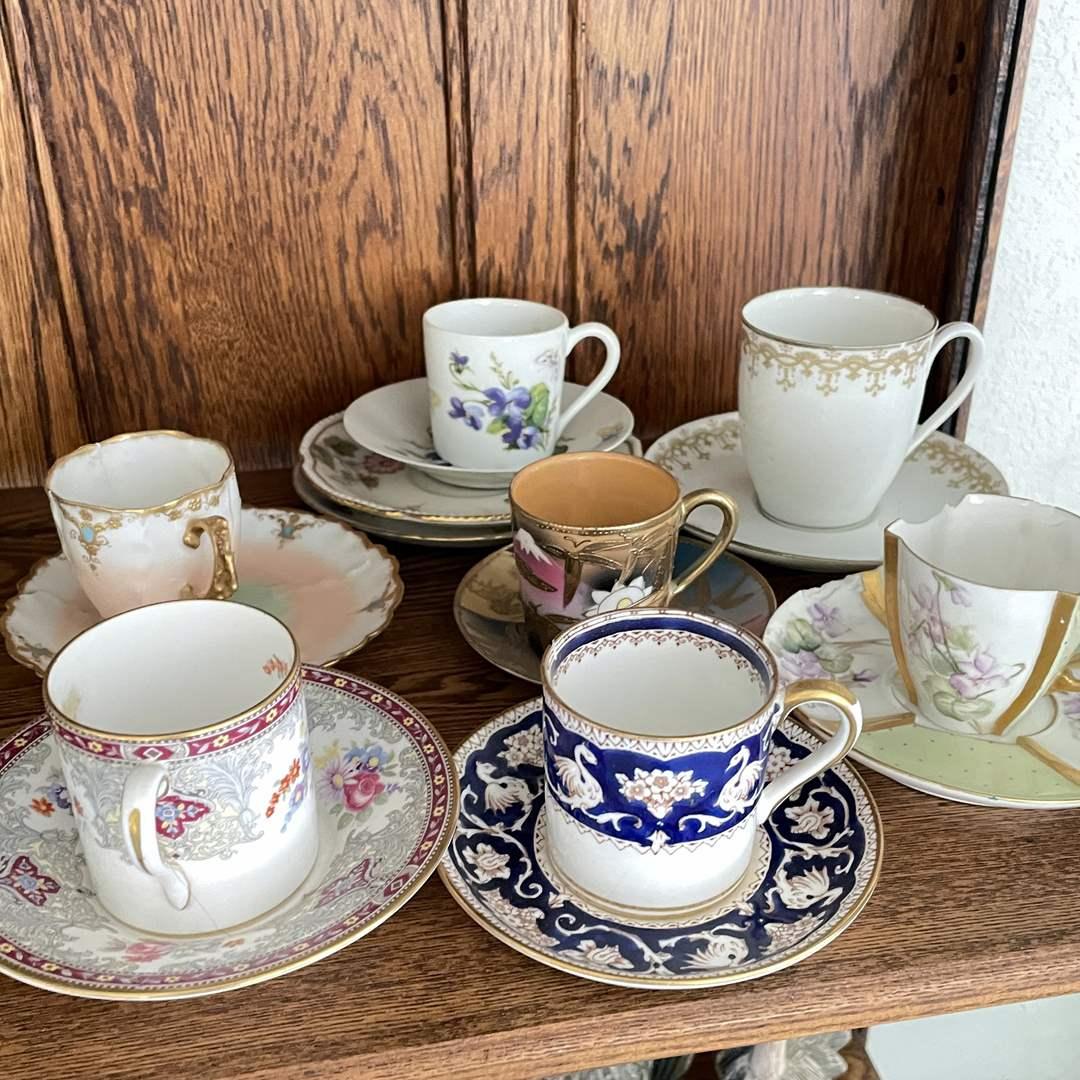 Lot # 11 - Collection of Porcelain Demitasse  (main image)