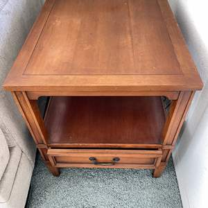 Lot # 22 - Wood End Table