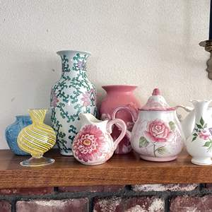 Lot # 29 - Vases Teapot and More
