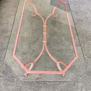 Lot # 32 - Vintage Glass Coffee Table