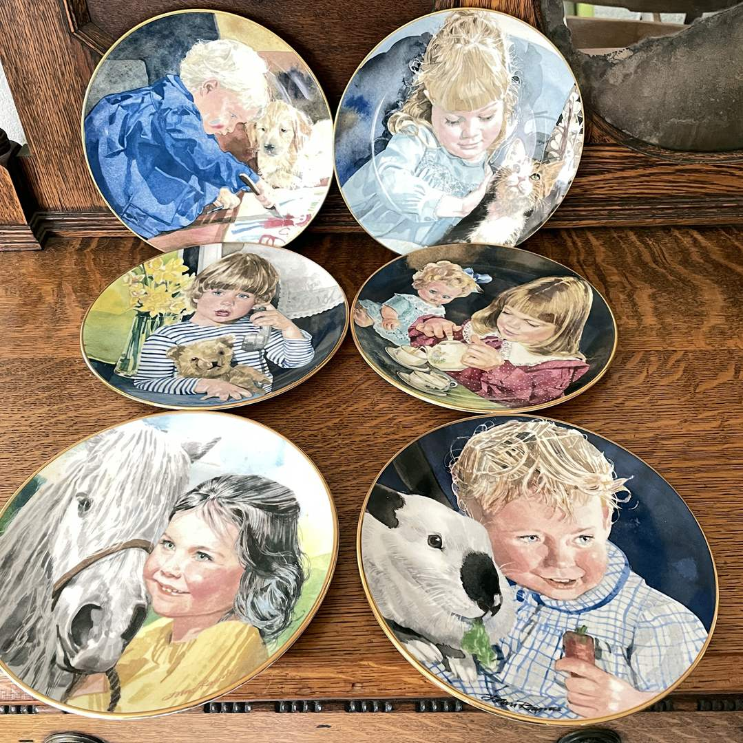 """Lot # 47 - Scotland Direct """"Childhood's Enchanting friendships"""" Six Collectible Plates (main image)"""