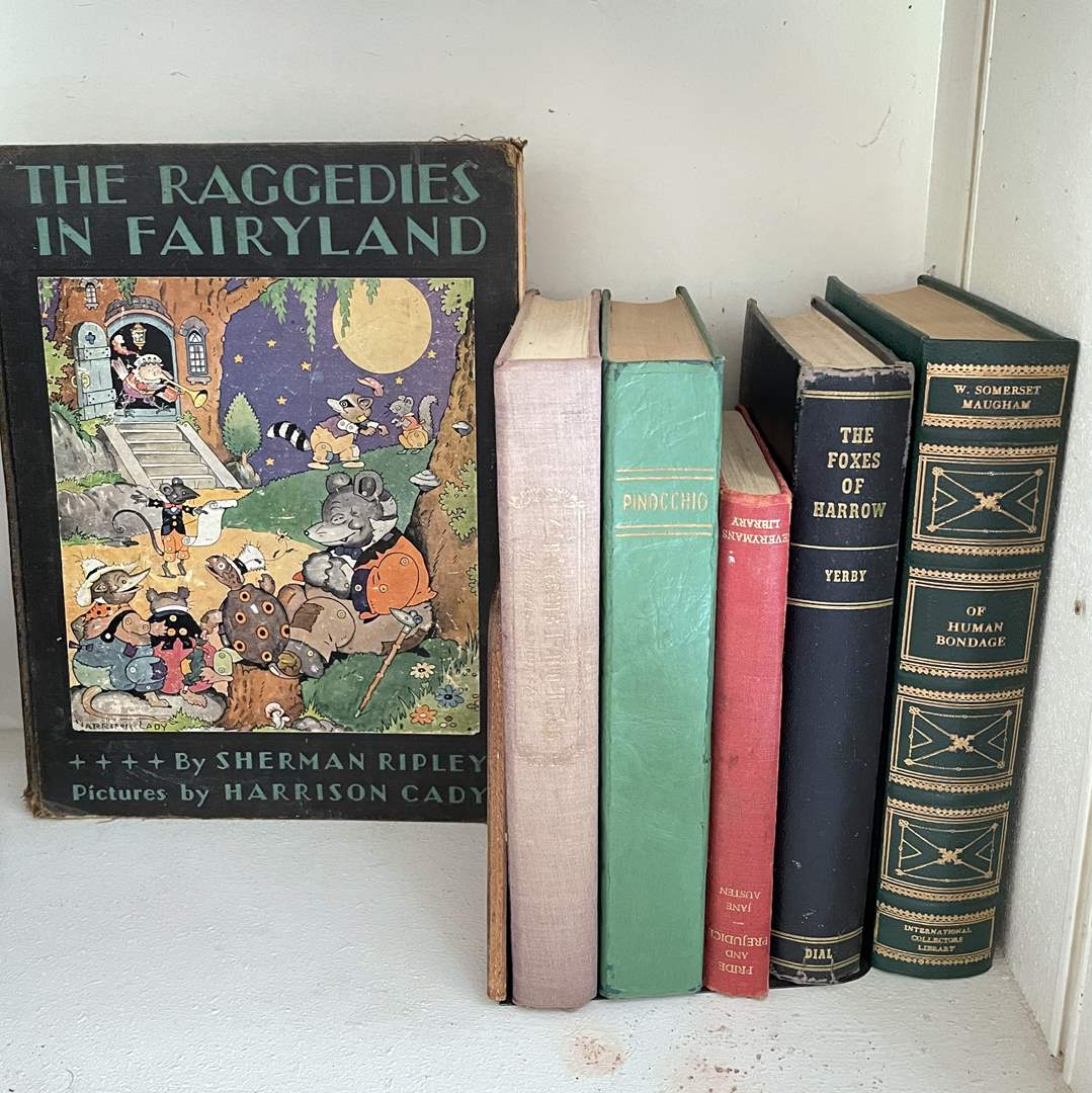 Lot # 53 - Collectible Hard Cover Books (Andersen's Fairy Tales, Pinocchio, Raggedies in Fairyland and More) (main image)