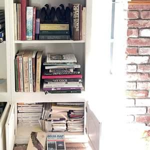Lot # 55 - Iron Eagle Bookends and Books
