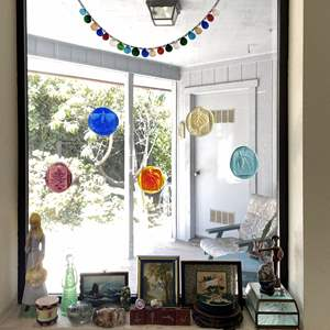 Lot # 59 - Hanging Glass Art and More Fun Pieces