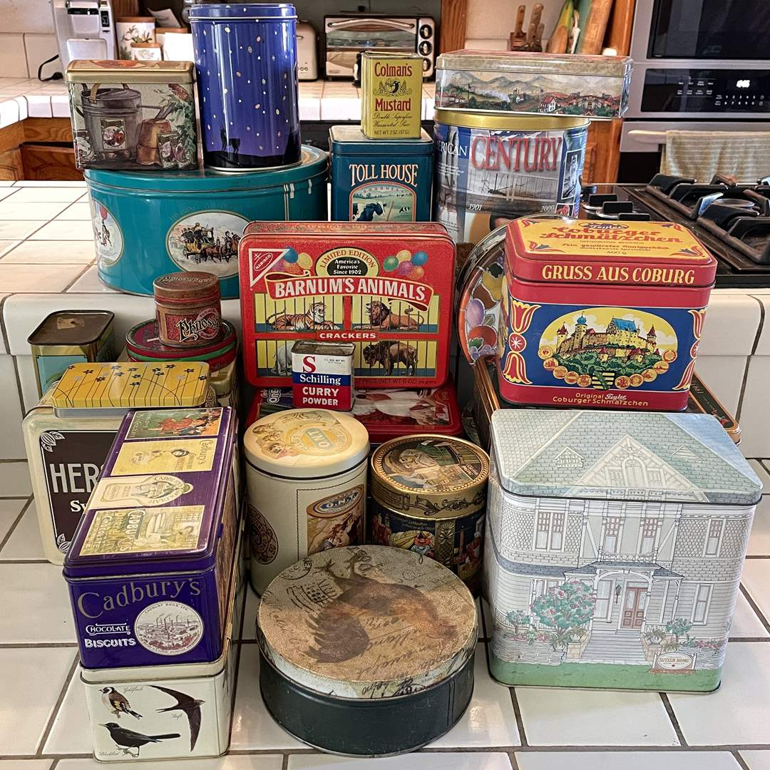 Lot # 64 - Vintage and Collectible Tins (main image)