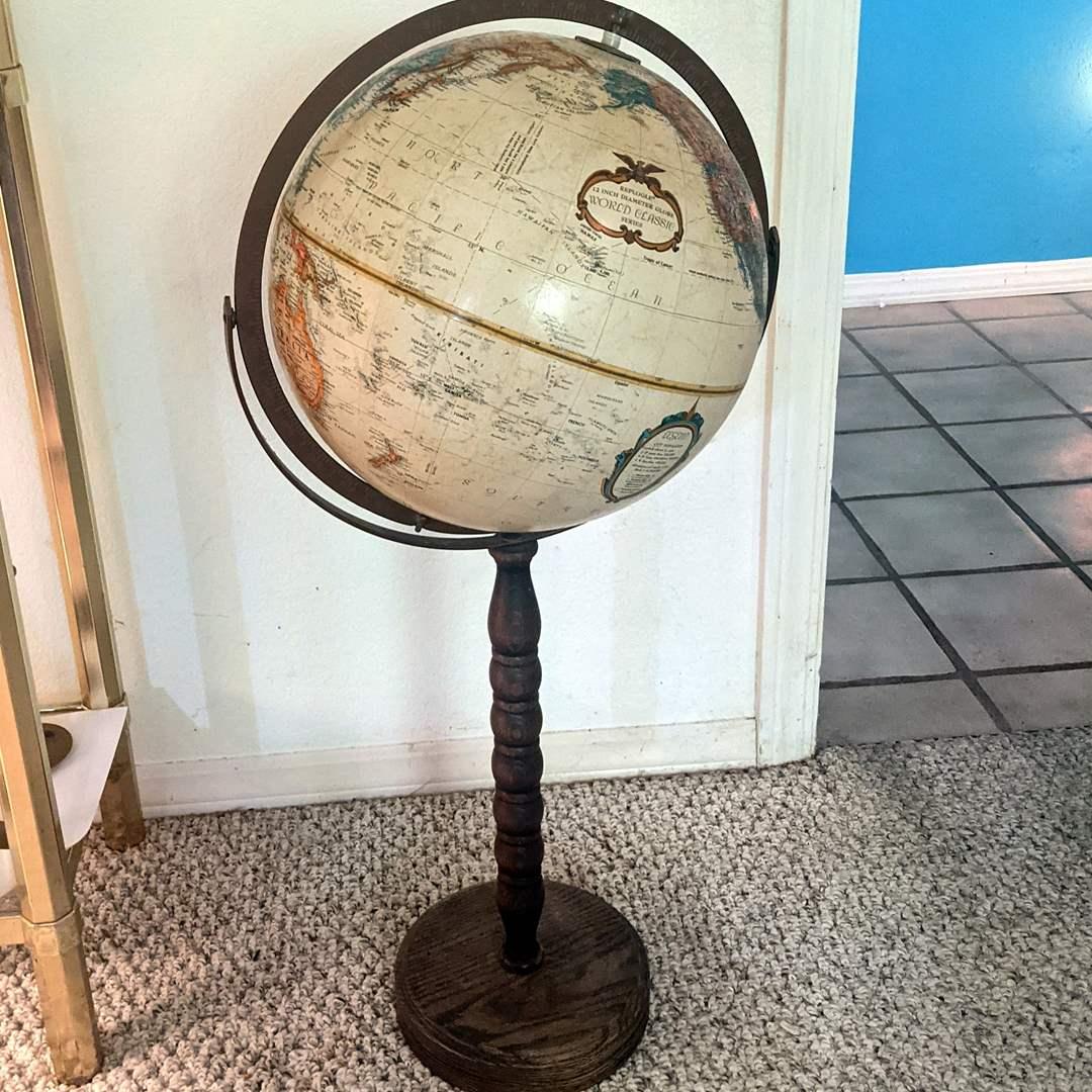 Lot # 95 - Replogle Globe 12 inch World Classic On Wood Stand (main image)