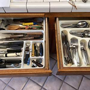 Lot # 69 - Silverware and Assorted Utensils