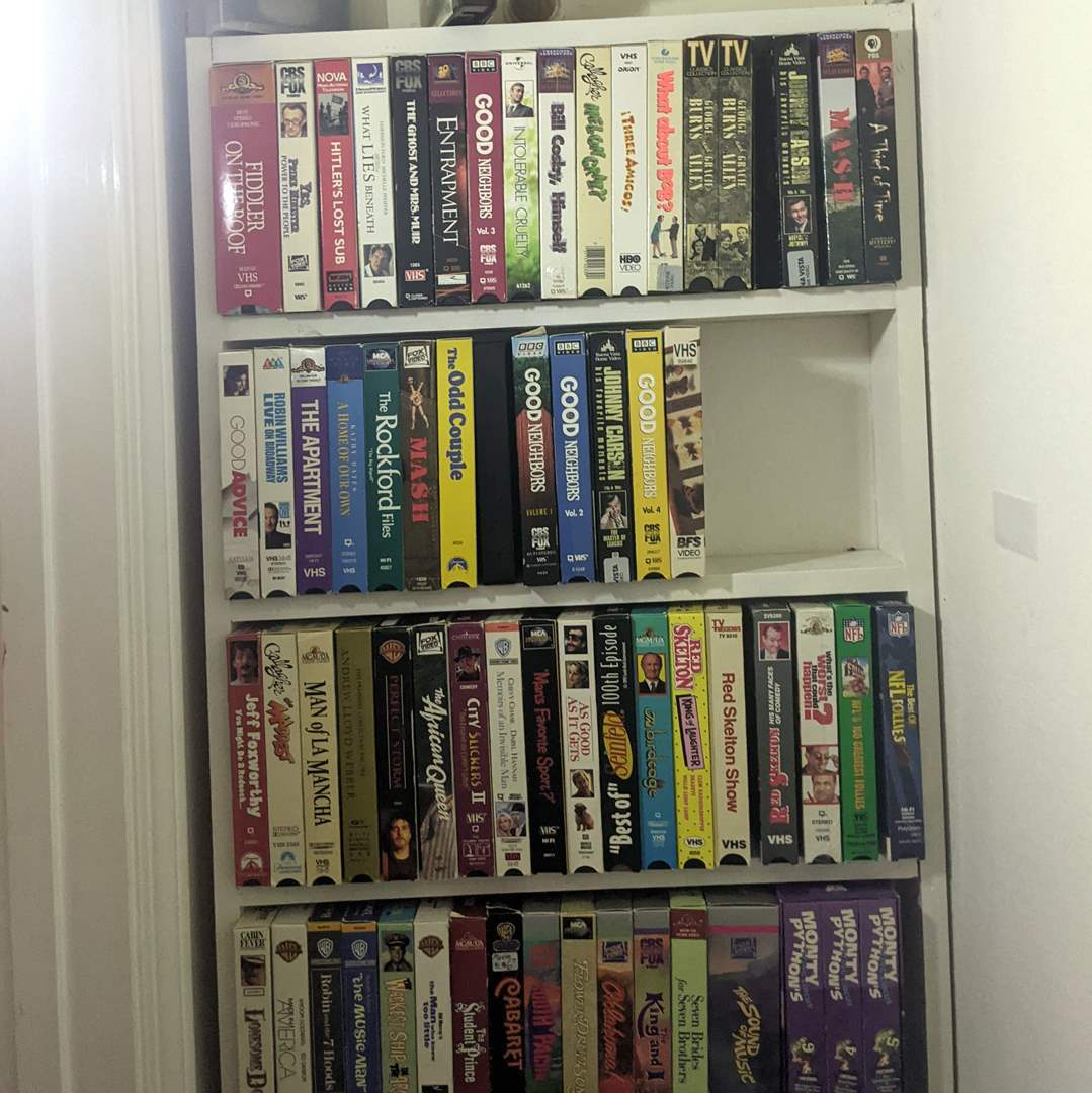 Lot # 101 - Huge Group of VHS Tapes  (main image)