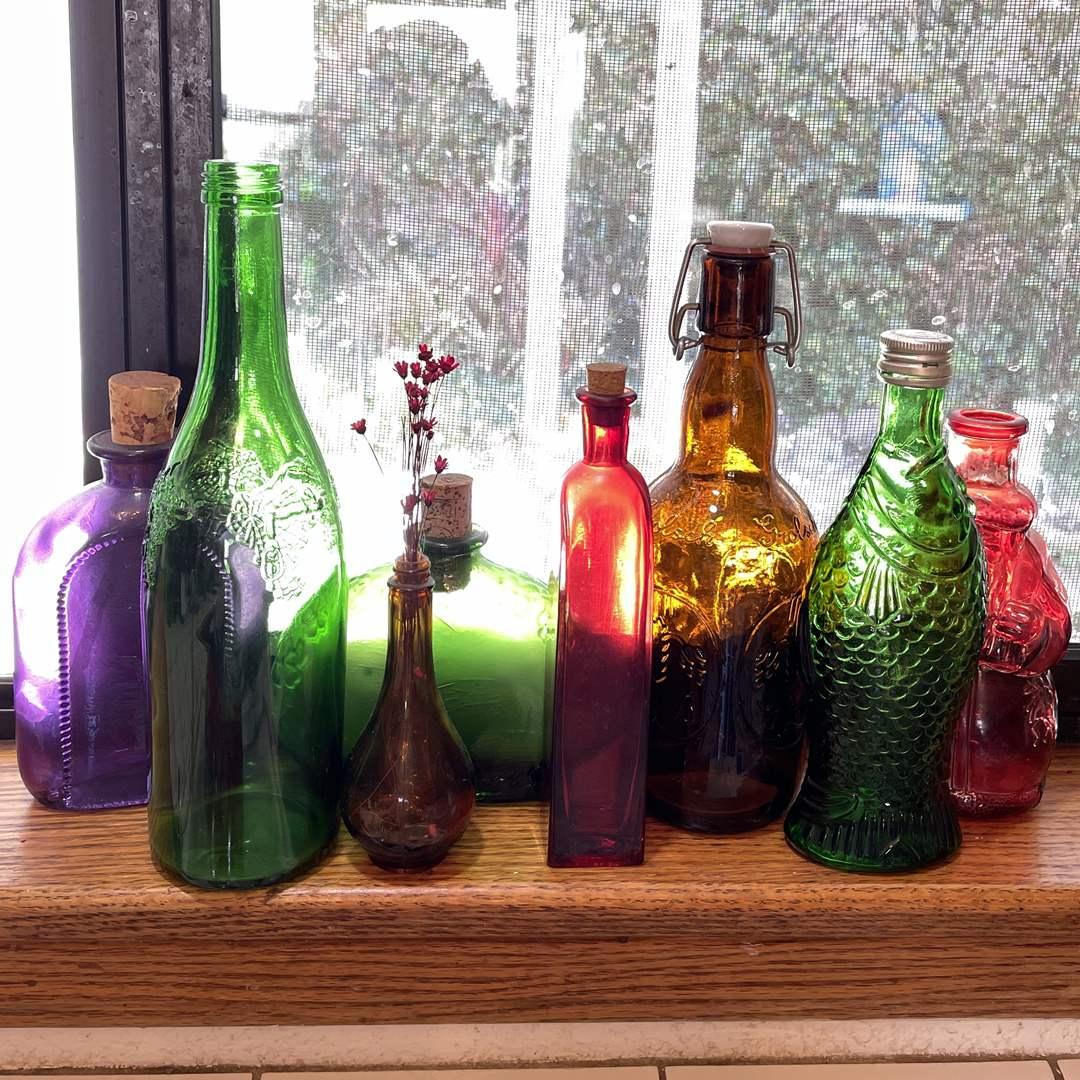 Lot # 73 - Vintage Glass Bottles (main image)