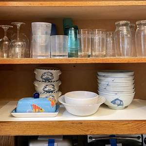 Lot # 85 - Nautical Bowls, Glassware and More