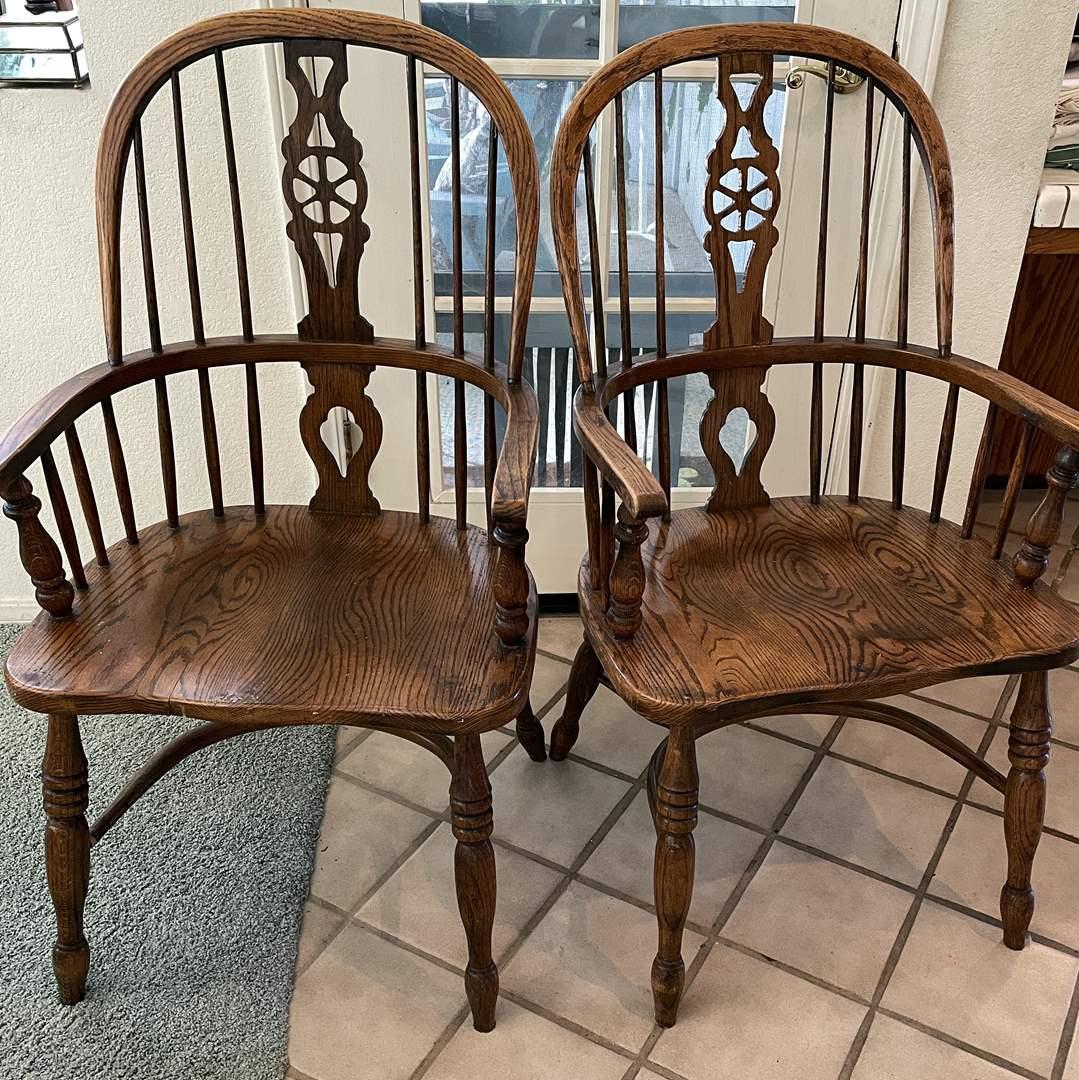 Lot # 89 - Beautiful Wood Chairs  (main image)