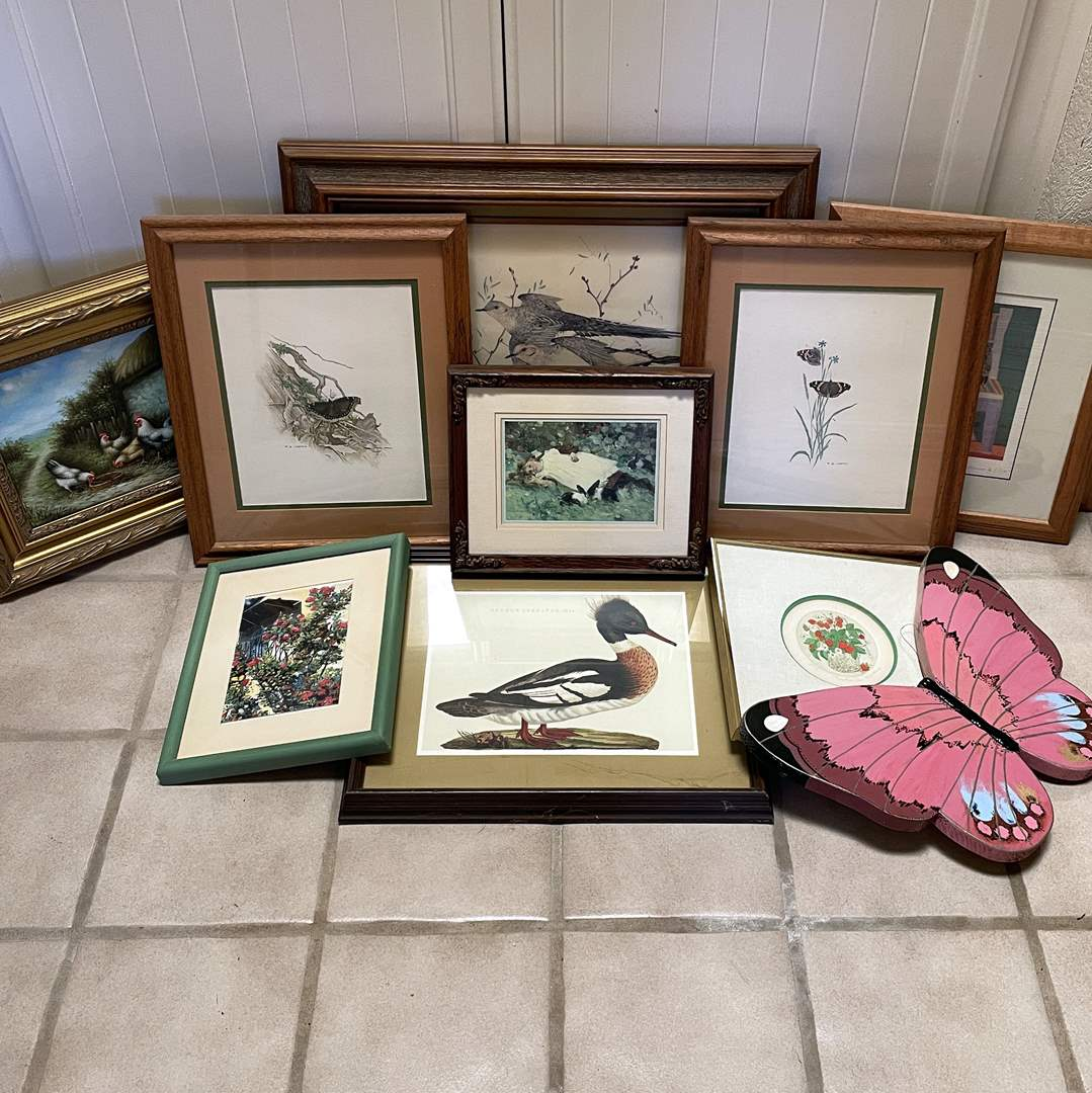 Lot # 113 - Large Collection of Framed Art  (main image)