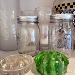 Lot # 150 - Vintage frogs, vases and Pitchers Galore