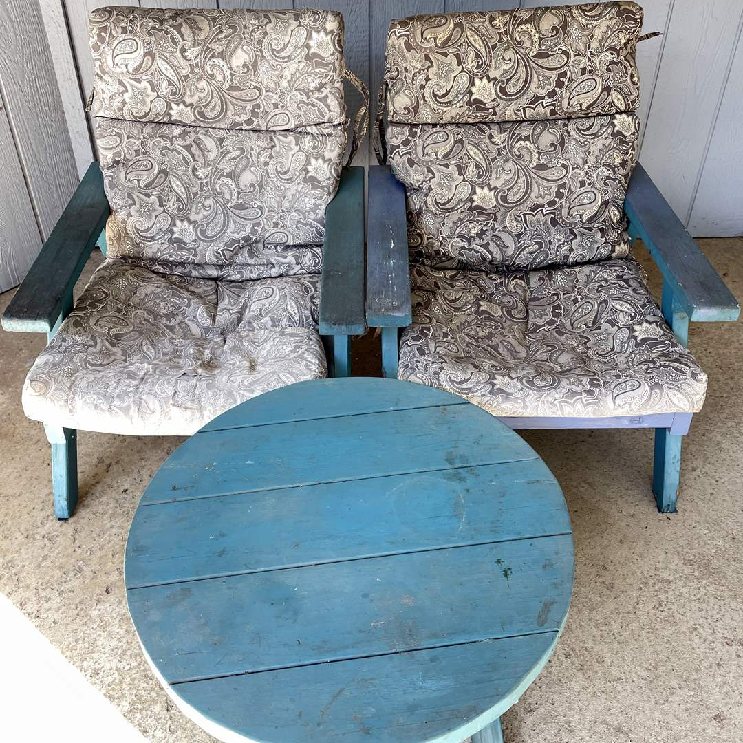 Lot # 153 - Matching Outdoor Chairs and Table  (main image)