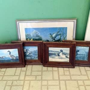 Lot # 170 - (5) Framed Duck Art
