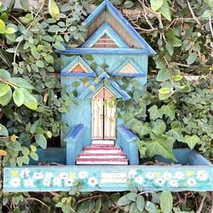 Lot # 158 - Bird Feeder, (2) Bird Baths, (2) Garden Art Spike