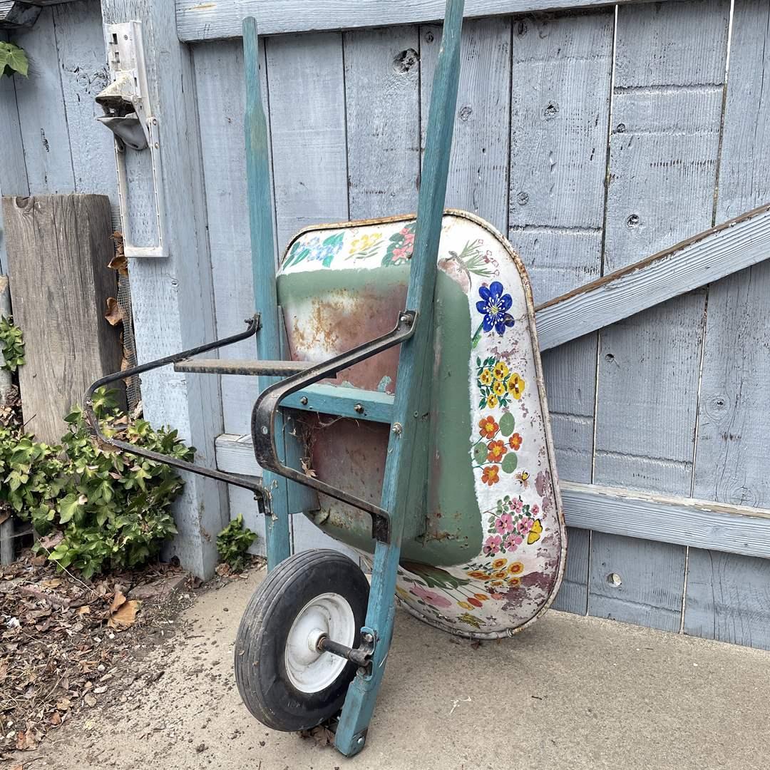 Lot # 162 - Hand Painted Wheelbarrow  (main image)