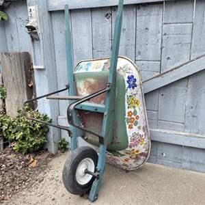 Lot # 162 - Hand Painted Wheelbarrow