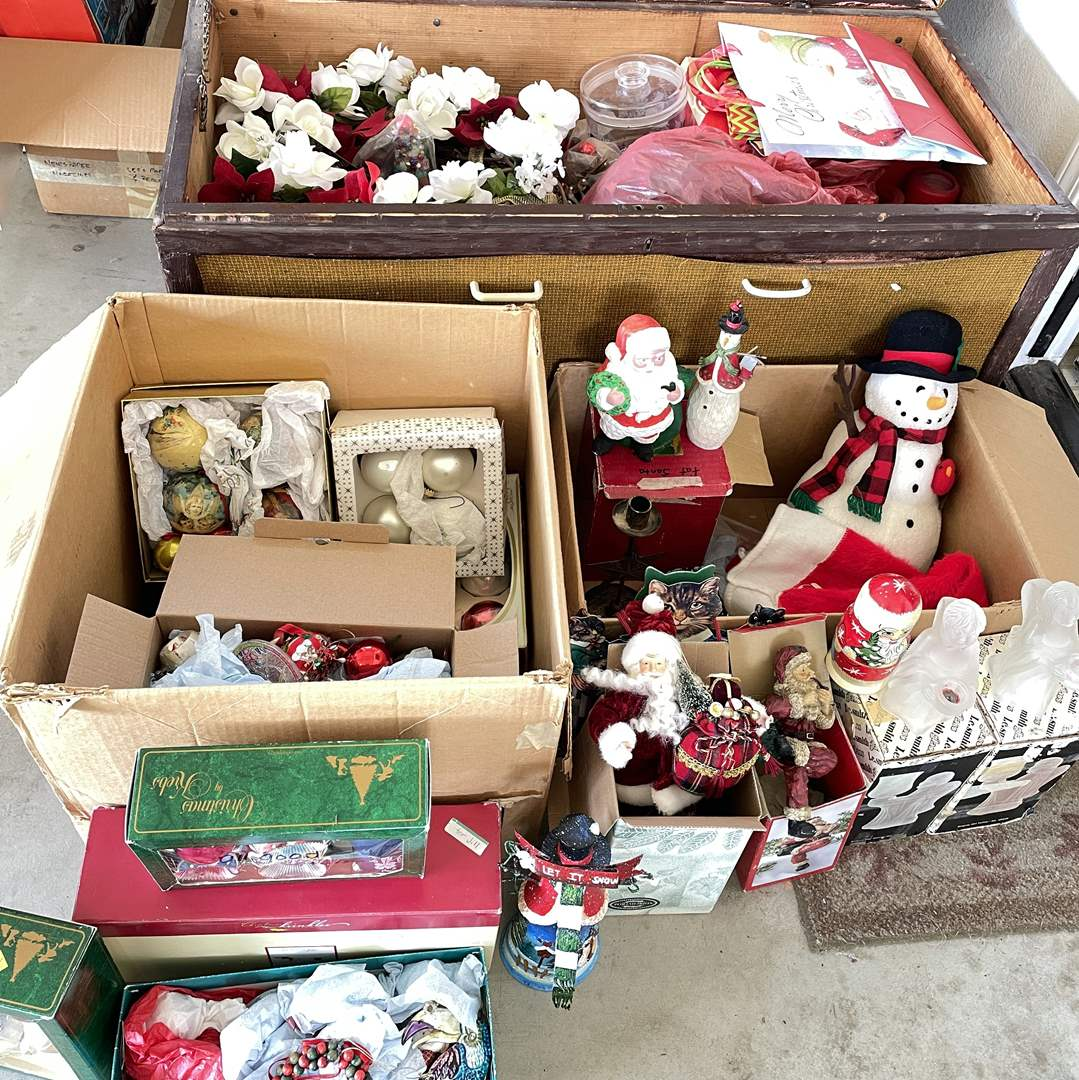 Lot # 165 - Huge Christmas Lot with Storage Trunk (main image)