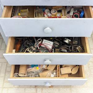 Lot # 179 - (3) Contents of Drawers (Shop Tools and Items)