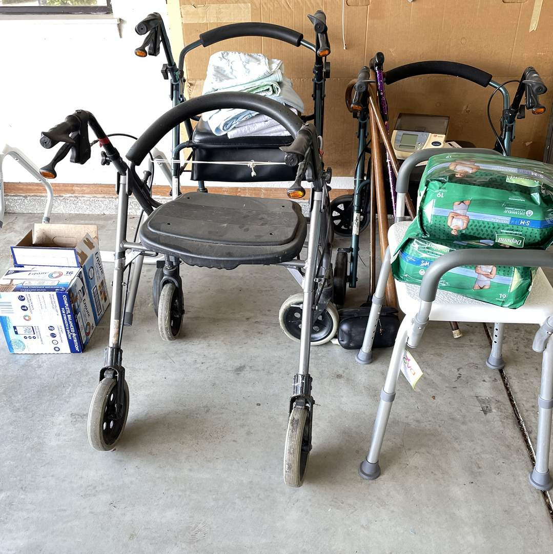 Lot # 202 - Home-Health; Walkers, Canes and More Supplies (main image)