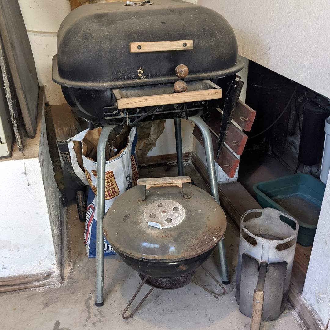 Lot # 195 - Charcoal Grills and Supplies (main image)